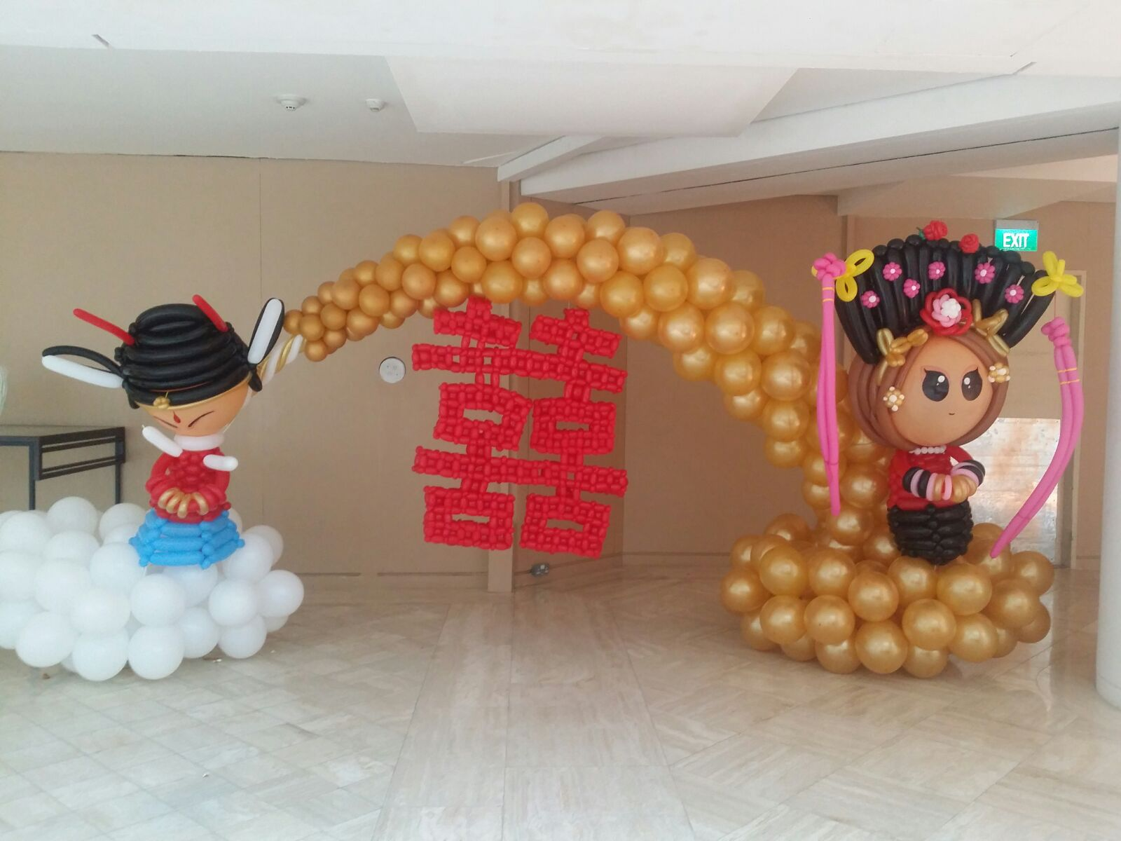 Chinese wedding couple balloon